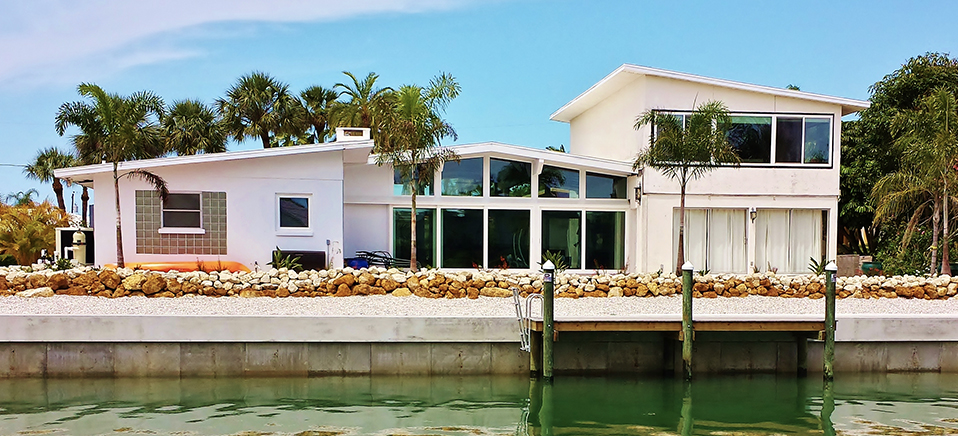 Concrete Seawall in Sarasota