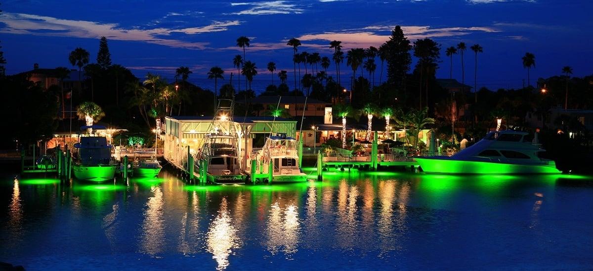 Green dock lights - Duncan Seawall