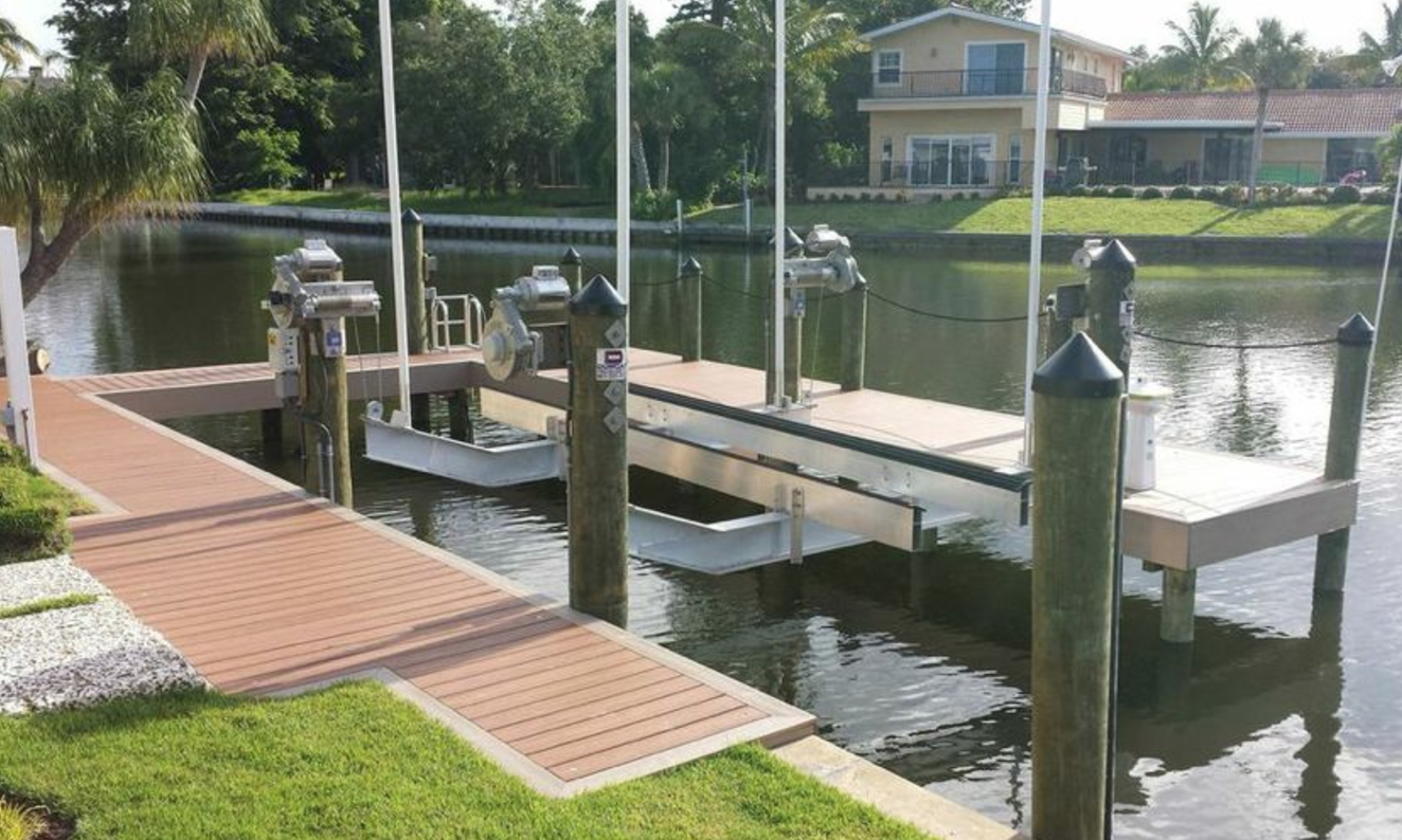 Custom Trex dock with trim